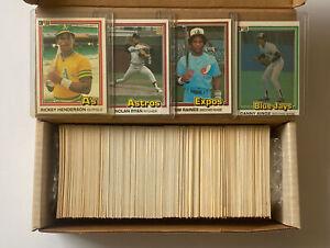 1981 Donruss Baseball Complete Set, VG-VGEX , Henderson, Nolan Ryan, Tim Raines