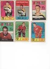 Vintage  TOPPS NHL 1967 - 1968 COMPLETE HOCKEY CARD SET; WITH 3 BOBBY ORR CARDS