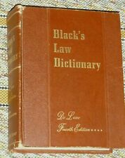 BLACK'S LAW DICTIONARY 1957 DeLuxe 4th Edition West Publishing