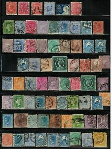 Lot of New South Wales(Australia) Old Stamps Used