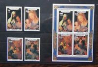 Aitutaki 1986 Visit of Pope John Paul II set & Miniature Sheet MNH