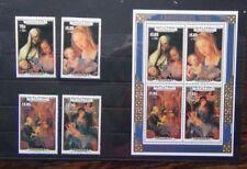 More details for aitutaki 1986 visit of pope john paul ii set & miniature sheet mnh