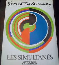 Sonia DELAUNAY (1885-1979) Affiche ARTCURIAL Les simultanés P1241XL