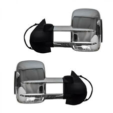 Towing Mirrors Pair for MAZDA BT- 50 2012-On w/ Smoked Turn Signals Non-Heated