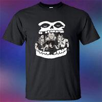 New Misfits Horror Punk Band Cartoon Personels Mens Black T-Shirt Size S-3XL