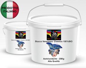 Stucco Veneziano Autolucidante Classico 100%BIO HIGH-QUALITY - 8 - 25Kg LUCIDO