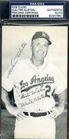 Walter Alston Signed Psa/dna Dodgers Team Postcard Authentic Autograph
