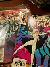Lot of 2 Cloak and Dagger #1 #2 of 4 iss Limited Series Marvel Comics Group 1983