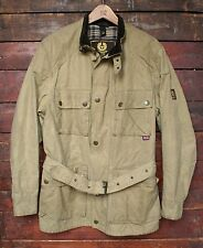 BELSTAFF GOLD LABEL ROADMASTER BEIGE WAXED COTTON MOTORCYCLE JACKET ITALY M