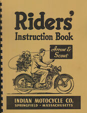 Vertical Indian Motorcycle ~ Arrow / Scout ~ 149/249 ~  Riders Manual ~ Reprnt