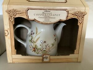 Vintage Marks and Spencer St Michael Coffee Teapot HARVEST Stoneware Boxed 1986