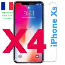 LOTS 4Vitre protection d'écran en VERRE TREMPE   anti-casse Pour iPhone XS