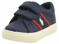 Polo Ralph Lauren Toddler Boy's Geoff-EZ Navy/Red Sneakers Shoes