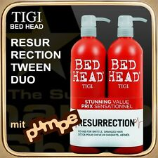 Resurrection Champú Acondicionador (2x750ml) BED HEAD TIGI TWEEN DUO (con bomba