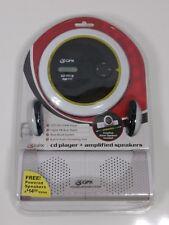 GPX cd player CDPR6205 digital FM scan radio CD CDR CDRW player w powered speake