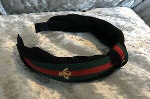 New Designer Striped Bee Knot Headband Hairband Red, Green, Gold & Black