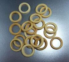 LOT DE 18 PETITS ANNEAUX DE RIDEAU ANCIENS CELLULOÏD / 8 mm diamètre interne /O