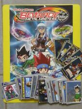 LOT ALBUM VIDE PANINI BEYBLADE metal masters AVEC 148 IMAGES A COLLER SS DOUBLES