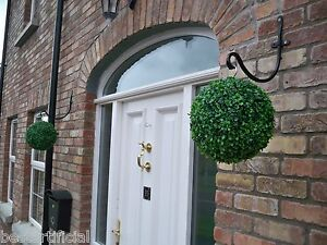 2 Best Artificial 28cm Green Boxwood Buxus Topiary Grass Hanging Balls New Plant