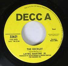 Pop Promo 45 Layng Martine Jr - The Recruit / St.Anne On Decca