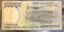 1995 Indonesia 50,000 rupiah Suharto series #2  nice!scare?