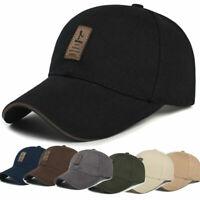 Unisex Men Plain Washed Cap Style Cotton Adjustable Baseball Cap Hat Solid Golf