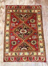 Beautiful Vintage Anatolian Karapinar Design Hand Woven Rug