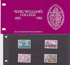 Isla de man Presentación Pack 1983 King William's College 10% de descuento de CUALQUIER 5+
