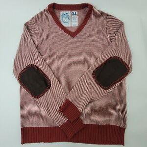 Trovata Men's Red-striped Sweater, Cashmere blend, Size XL