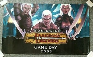 Dungeons and Dragons D&D Banner Worldwide Game Day 2005  3x5 Feet Drow