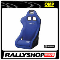 FIA OMP TRS-E BLUE RACE RALLY BUCKET SEAT Steel Frame Velour CHEAP DELIVERY