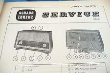 Service Manual-Anleitung für Schaub-Lorenz Goldy 10, 27110