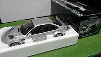 BMW M3 GTR Street 2001 gris Silver 1/18 MINICHAMPS 100012100 voiture miniature