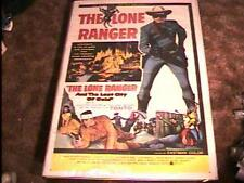 LONE RANGER LOST CITY MOVIE POSTER '58 CLAYTON MOORE