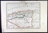 1825 Tardieu Antique Map of Algeria North Africa