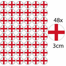 48 ENGLAND PREMIUM 3cm RICE PAPER WORLD CUP CAKE TOPPERS ST GEORGES DAY CROSS D1