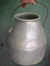 Vintage RARE Wearever Wear ever milker pail aluminum bucket farm agriculture