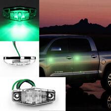 New Green Side Marker 2 LED Light For Car Truck Trailer Clearance Lamp 12v/24v