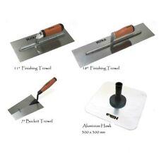 "Plastering Finishing Trowel 11""/18"", Aluminium Hawk Bucket Trowel Discounted Set"