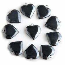 BT 20 X Black Hematite Gemstone Heart Pendants Beads 20mm HOT