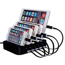 5 Port Multi USB Ladestation Ladegerät Dock für Handy Tablet