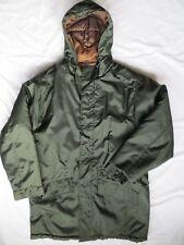 J Crew Mens Winter Coat Jacket Hood Parka Green Small Vintage VGUC