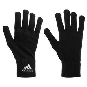 adidas Knitted Gloves Mens Training Running Warm Winter Training One Size Black