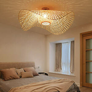 Bedroom bamboo lamp lights shade chandelier lampshade hotel