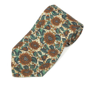LIBERTY OF LONDON Archival Design Sunflower Floral Men's Cotton Neck Tie