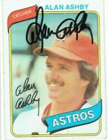 1980 Topps #187 Signed ALAN ASHBY Autographed Baseball Card Houston Astros