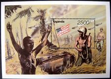 1995 MNH UGANDA WWII STAMPS SOUVENIR SHEET 5OTH ANNIVERSARY PEACE IN THE PACIFIC