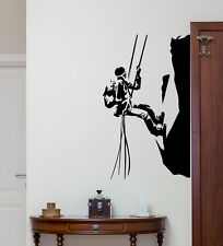Rock Climber Wall Decal Mountain Vinyl Sticker Extreme Print Poster Mural 249hor