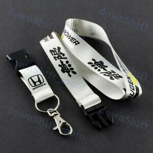 Lanyard Silver Mugen Keychain Quick Release Key Chain Strap For HONDA CIVIC New