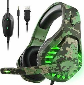 Butfulake Noise Cancelling PC Headset with MicPS4 Gaming Headset with 7.1 Sur...